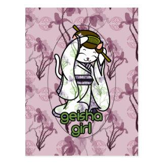 Iris Geisha Kitty Post Card