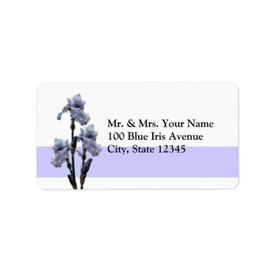 Iris of Blue Address Label