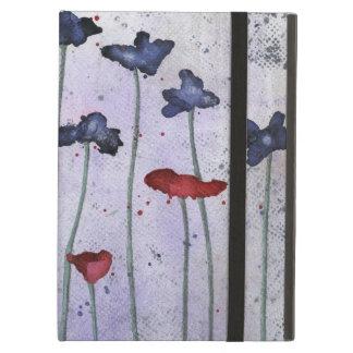 Iris & Poppy Red & Purple Flowers Watercolor iPad Air Case