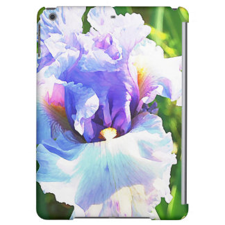 Iris Watercolor in Lavender and Blue iPad Air Case
