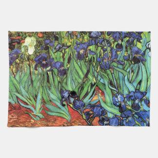 Irises by Van Gogh Fine Art Kitchen Towel