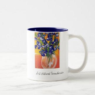 Irises for Gail by Mickey Two-Tone Coffee Mug