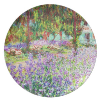 Irises in Monet's Garden Claude Monet Plate