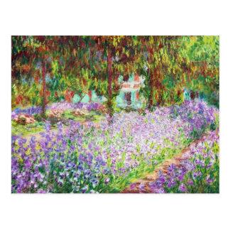 Irises in Monet's Garden Claude Monet Postcard