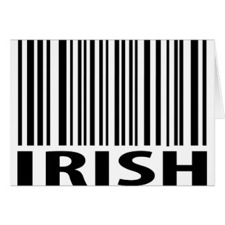 irish barcode card