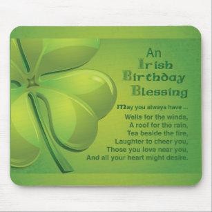 Irish Birthday Blessing Celtic Mouse Pad