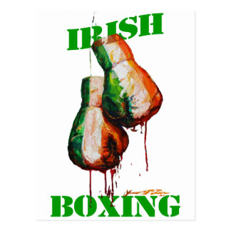 Irish Boxing Pride Postcard