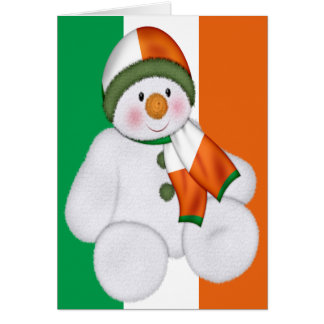 Irish Christmas Snowman Card