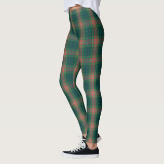 Irish Clan Gallagher Tartan Plaid Leggings
