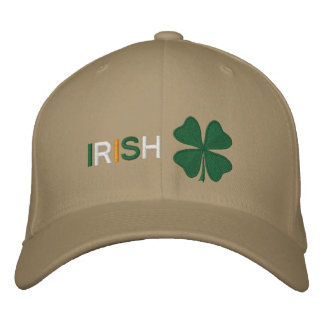 Irish Clover Embroidered Hat