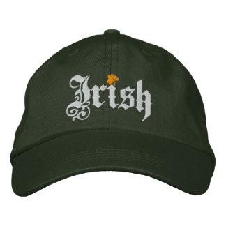 Irish clover White orange cool green cap Embroidered Baseball Cap