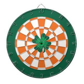 Irish Dartboard: Lucky 4 Leaf Clover Bullseye Dartboard