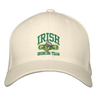 irish drinking team logo small embroidered baseball cap