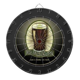 Irish Drinking Team Personalized Dartboard