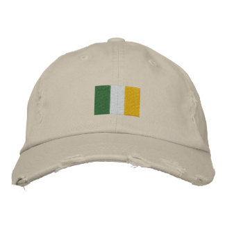 Irish Flag Embroidered Hat Embroidered Hat