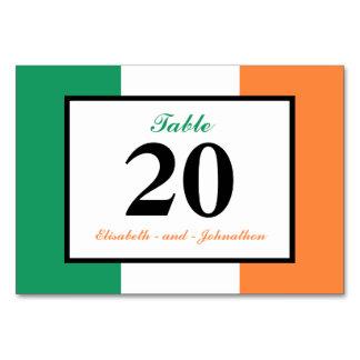 Irish Flag Ireland Wedding Table Card