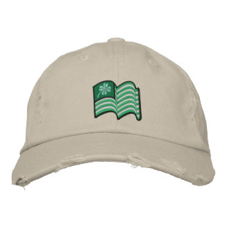 irish flag lucky clover hat embroidered hat