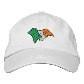 Irish flag of Ireland embroidered on a cap Embroidered Hats