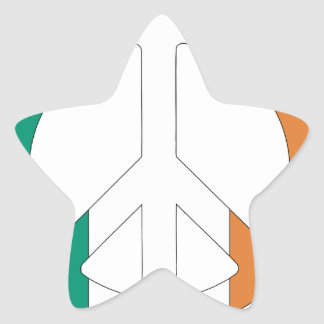 Irish Flag Peace Symbol Star Sticker