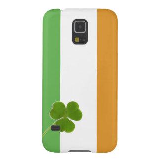 Irish Flag With Shamrock Galaxy S5 Cases