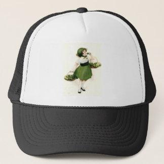 Irish Flower Girl Shamrock Green Trucker Hat