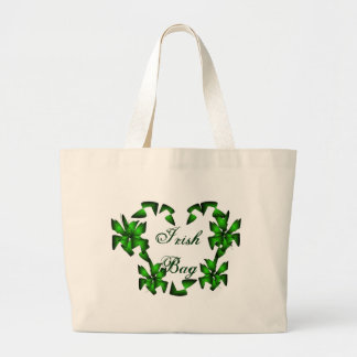 Irish Heart In White Bag - Customizable Canvas Bags