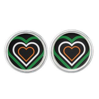 Irish Heart Ireland Flag-inspired Cufflinks