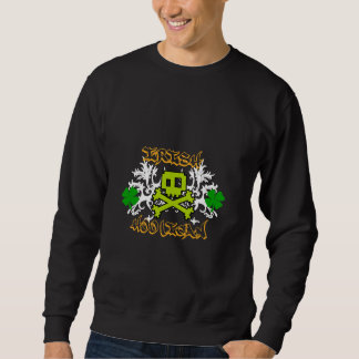 Irish Hooligan With Crossbones Black Sweatshirt