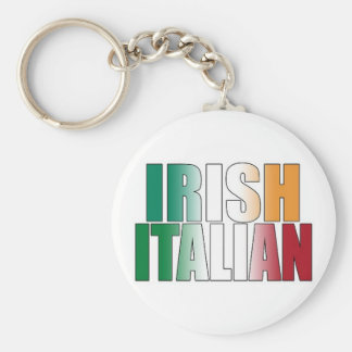 Irish Italian Basic Round Button Key Ring