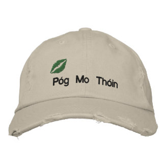 """Irish """"Kiss My Butt"""" Embroidered Hat Embroidered Hats"""