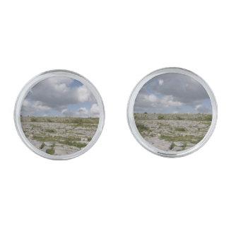 Irish Landscape Cuff-links Silver Finish Cufflinks