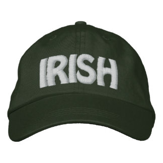 IRISH - Lemon Yellow Hat w/ White - CUSTOMIZABLE! Embroidered Cap