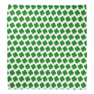 Irish lucky green shamrock bandana