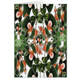 Irish Mouse Kaleidoscope Two St. Patrick's Day Greeting Card
