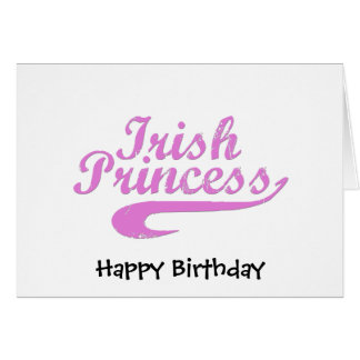 Irish Princess in Pink Card