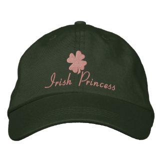 Irish Princess, Pink and Green Embroidered Baseball Cap