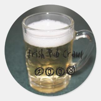 Irish Pub Crawl 2008 - Customized Stickers