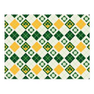 Irish Saint Patrick's Day pattern Postcard