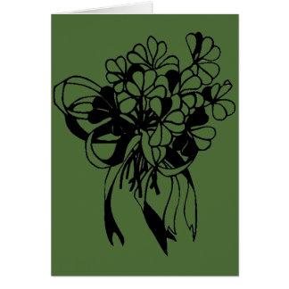 Irish Shamrock Bouquet St. Patrick's Day Card