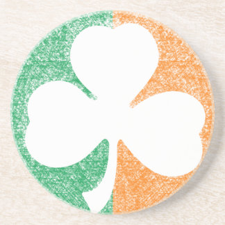 Irish Shamrock custom coaster