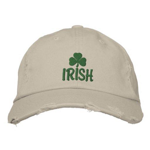 Irish Shamrock Embroidered Hat Embroidered Hats