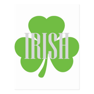 irish shamrock postcard