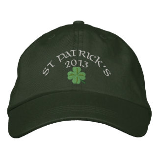 Irish shamrock St Patrick's Embroidered Hat