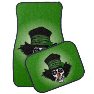 Irish Skeleton Clown Car Mat