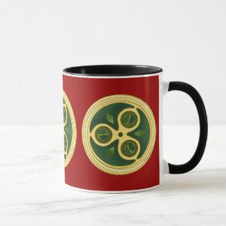 Irish Spiral Design Christmas Mugs