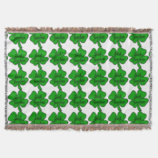 Irish Teacher Throw Blanket