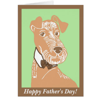 Irish Terrier with a Bowtie Father's Day Card