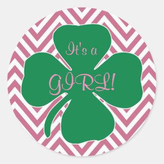Irish Themed Girl Baby Shower Sticker