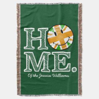Irish UK pride Union Jack Flag Housewarmer Throw Blanket