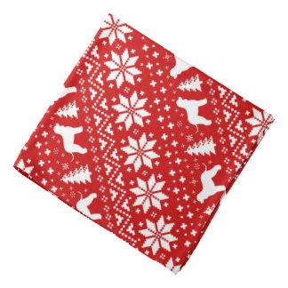 Irish Water Spaniels Christmas Pattern Red Kerchief